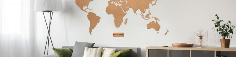 Kork-Weltkarten & Wandgestaltung