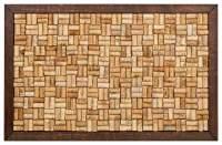 Pinnwand aus gebrauchten Korken (Rahmen: Eiche Massivholz dunkel)