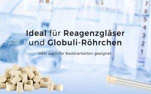 Ideal für Reagenzgläser und Globuli-Röhrchen