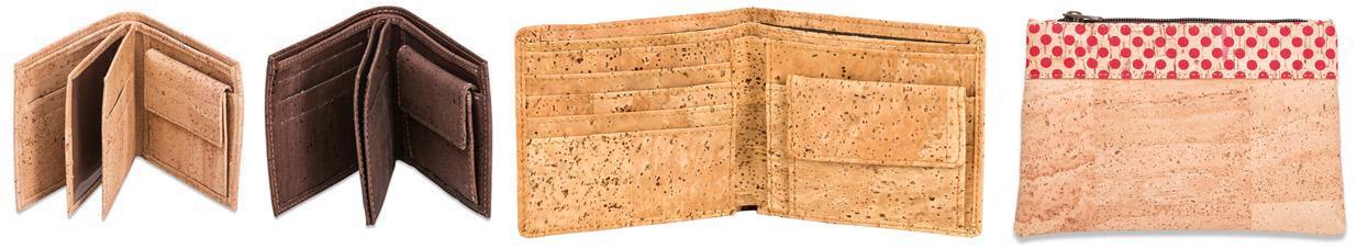 Geldbeutel aus Kork Stoff