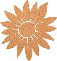 Kork-Pinnwand Sonnenblume
