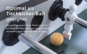 Optimal als Tischkicker-Ball geeignet.