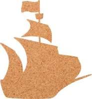 Kork-Pinnwand Schiff